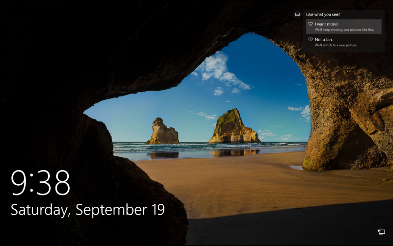 Image of Windows 10 Lockscreen with Spotlight